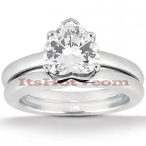 Diamond Platinum Engagement Ring Setting Set Set