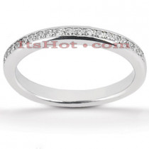 Thin Diamond Platinum Engagement Wedding Band 0.14ct