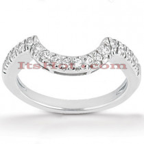 Diamond Platinum Engagement Wedding Band 0.17ct