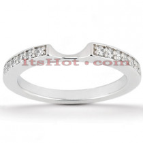 Thin Diamond Platinum Engagement Wedding Band 0.18ct