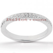 Thin Diamond Platinum Engagement Wedding Band 0.23ct