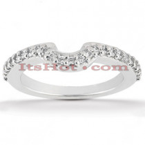 Ultra Thin Diamond Platinum Engagement Wedding Band 0.38ct