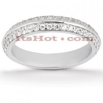 Thin Diamond Platinum Engagement Wedding Band 0.38ct