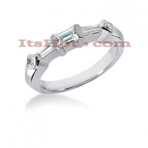Thin Diamond Platinum Engagement Wedding Band 0.54ct