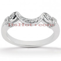 Thin Diamond Platinum Engagement Wedding Ring 0.14ct