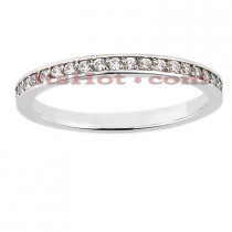 Ultra Thin Diamond Platinum Engagement Wedding Ring 0.21ct