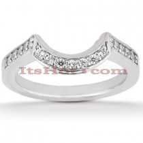 Ultra Thin Diamond Platinum Engagement Wedding Ring 0.24ct