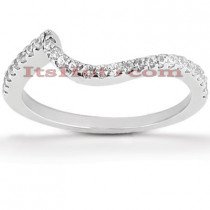 Ultra Thin Diamond Platinum Engagement Wedding Ring 0.27ct