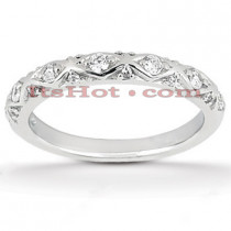 Thin Diamond Platinum Engagement Wedding Ring 0.27ct