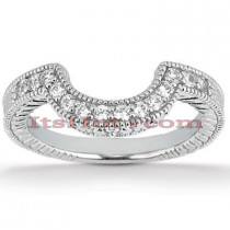 Thin Diamond Platinum Engagement Wedding Ring 0.28ct