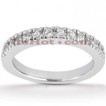 Thin Diamond Platinum Engagement Wedding Ring 0.30ct