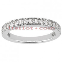 Thin Diamond Platinum Engagement Wedding Ring 0.34ct