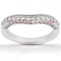 Thin Diamond Platinum Engagement Wedding Ring 0.45ct