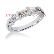 Thin Diamond Platinum Engagement Wedding Ring 0.70ct