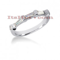 Ultra Thin Diamond Platinum Engagement Wedding Ring 0.72ct