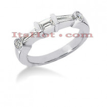 Thin Diamond Platinum Engagement Wedding Ring 0.75ct