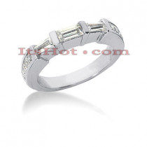 Thin Diamond Platinum Engagement Wedding Ring 0.79ct