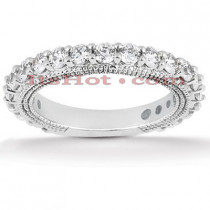 Thin Diamond Platinum Engagement Wedding Ring 1.47ct