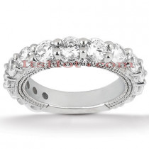 Thin Diamond Platinum Engagement Wedding Ring 2.72ct