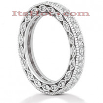 Thin Diamond Platinum Eternity Band 0.63ct