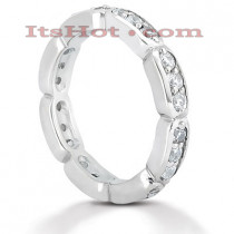 Thin Diamond Platinum Eternity Band 0.72ct