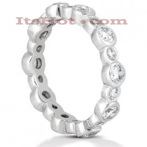 Thin Diamond Platinum Eternity Band 1.30ct