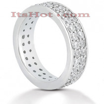 Diamond Platinum Eternity Band 1.56ct