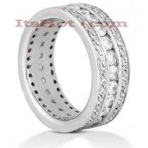 Diamond Platinum Eternity Band 1.90ct