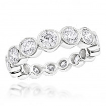 Diamond Platinum Eternity Band 2.09ct