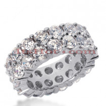 Diamond Platinum Eternity Band 2.60ct