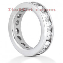 Diamond Platinum Eternity Band 2.85ct