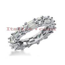 Diamond Platinum Eternity Band 2.96ct