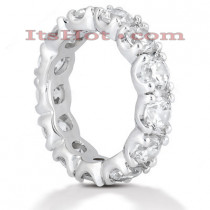 Diamond Platinum Eternity Band 4.55ct