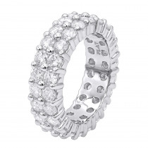 Round Diamond Platinum Eternity Band 4.60ct
