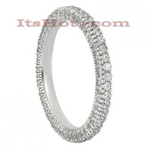 Thin Diamond Platinum Eternity Ring 1.10ct