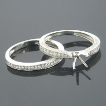 Diamond Ring Sets 14K Gold Diamond Bridal Ring Set 0.61