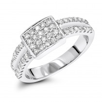 Diamond Rings 10K Gold Ladies Diamond Ring 0.77ct