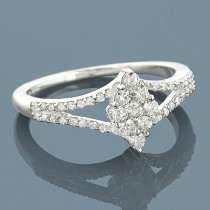 Diamond Rings 14K Pre-Set Diamond Engagement Ring 1.2ct