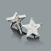 Diamond Star Earrings 0.11ct Sterling Silver