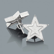 Diamond Star Earrings 0.20ct Sterling Silver