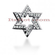 Diamond Star of David Necklace 0.45ct 14k Gold