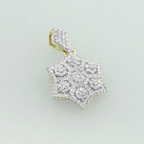Diamond Star of David Pendant 14K 0.33ct