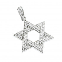 Diamond Star of David Pendant 14K Gold 0.62ct