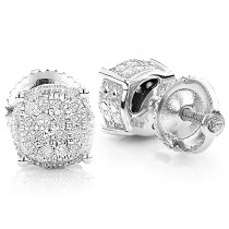 Diamond Stud Earrings 0.25ct Sterling Silver