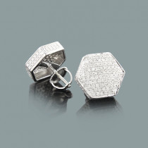 Diamond Stud Earrings 0.75ct Sterling Silver