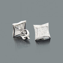 Diamond Stud Earrings in Sterling Silver 0.17ct