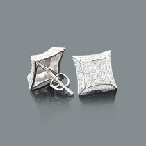 Diamond Stud Earrings in Sterling Silver 0.33ct