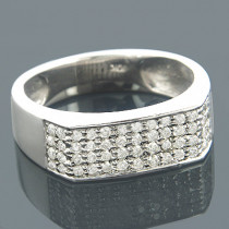Diamond Wedding Bands 10K Diamond Wedding Band 0.68ct