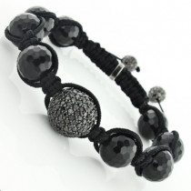 Disco Ball Black Diamond Bracelet 5.50ct 14K Gold