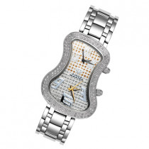 Dual Time Zone Watches Aqua Master Diamond Watch 1.5ct